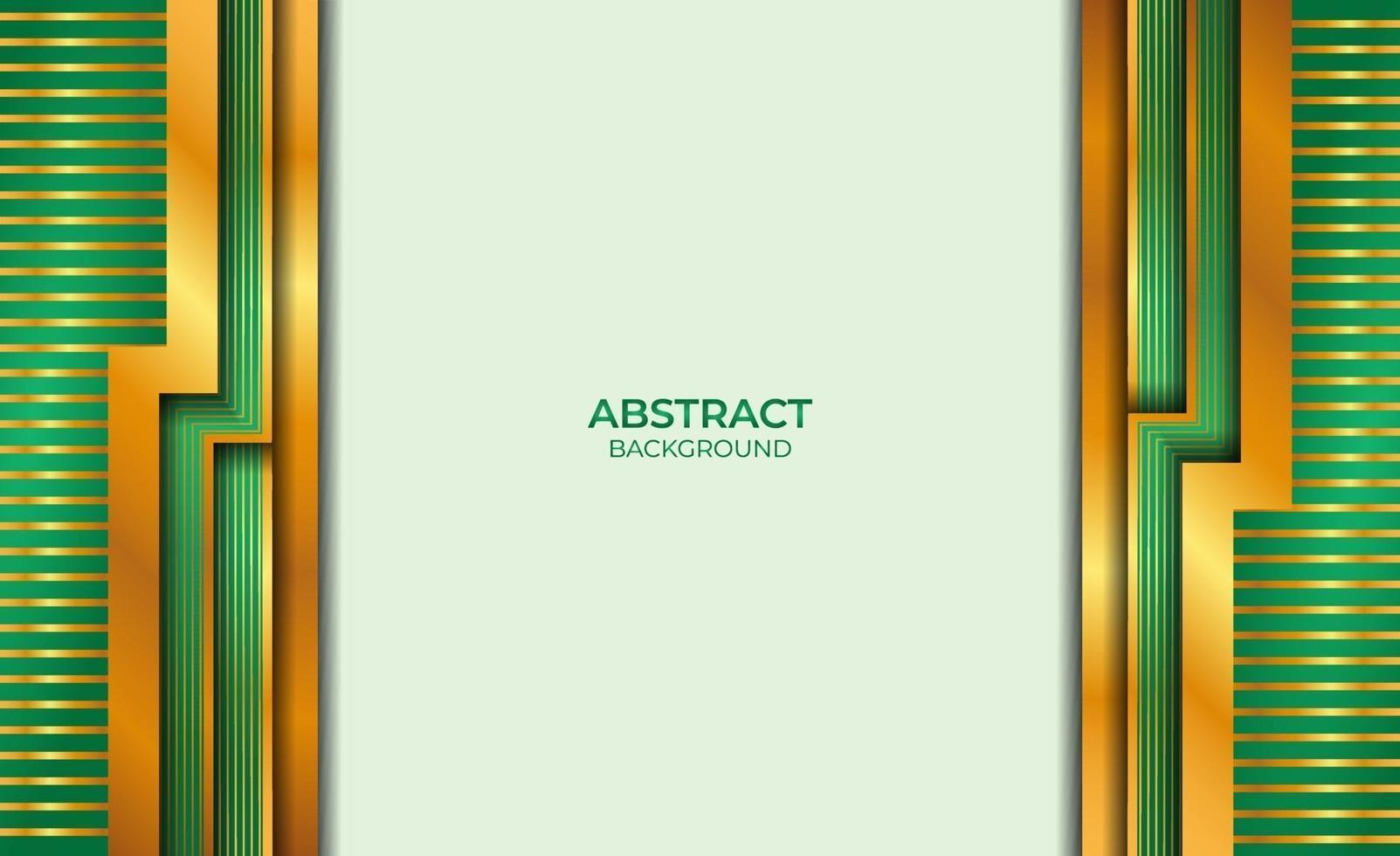 ontwerp abstracte gouden en groene stijl vector
