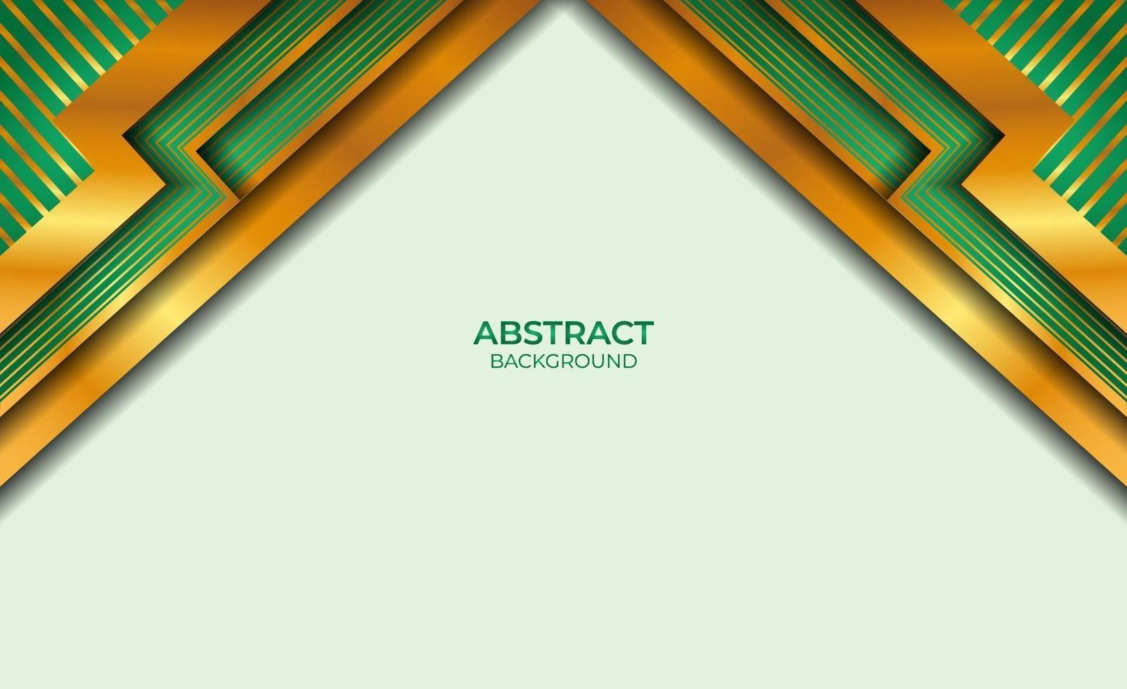 achtergrond gouden en groene stijl abstract vector