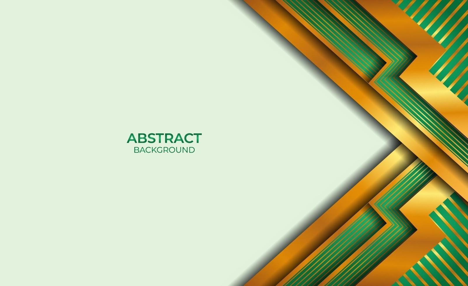 ontwerp achtergrond gouden en groene stijl abstract vector