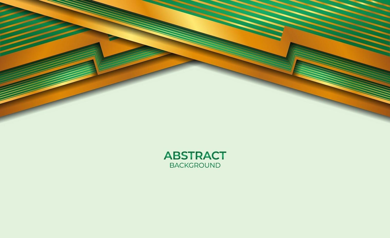 achtergrond gouden en groene stijl vector
