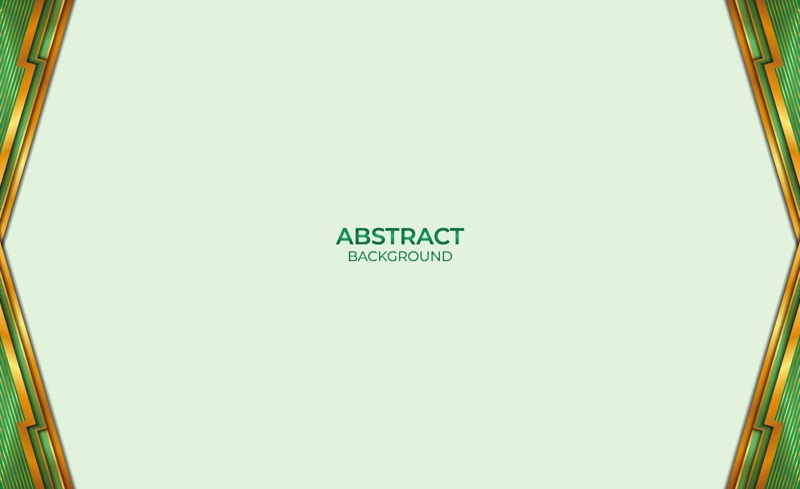 achtergrond gouden en groene abstracte stijl vector
