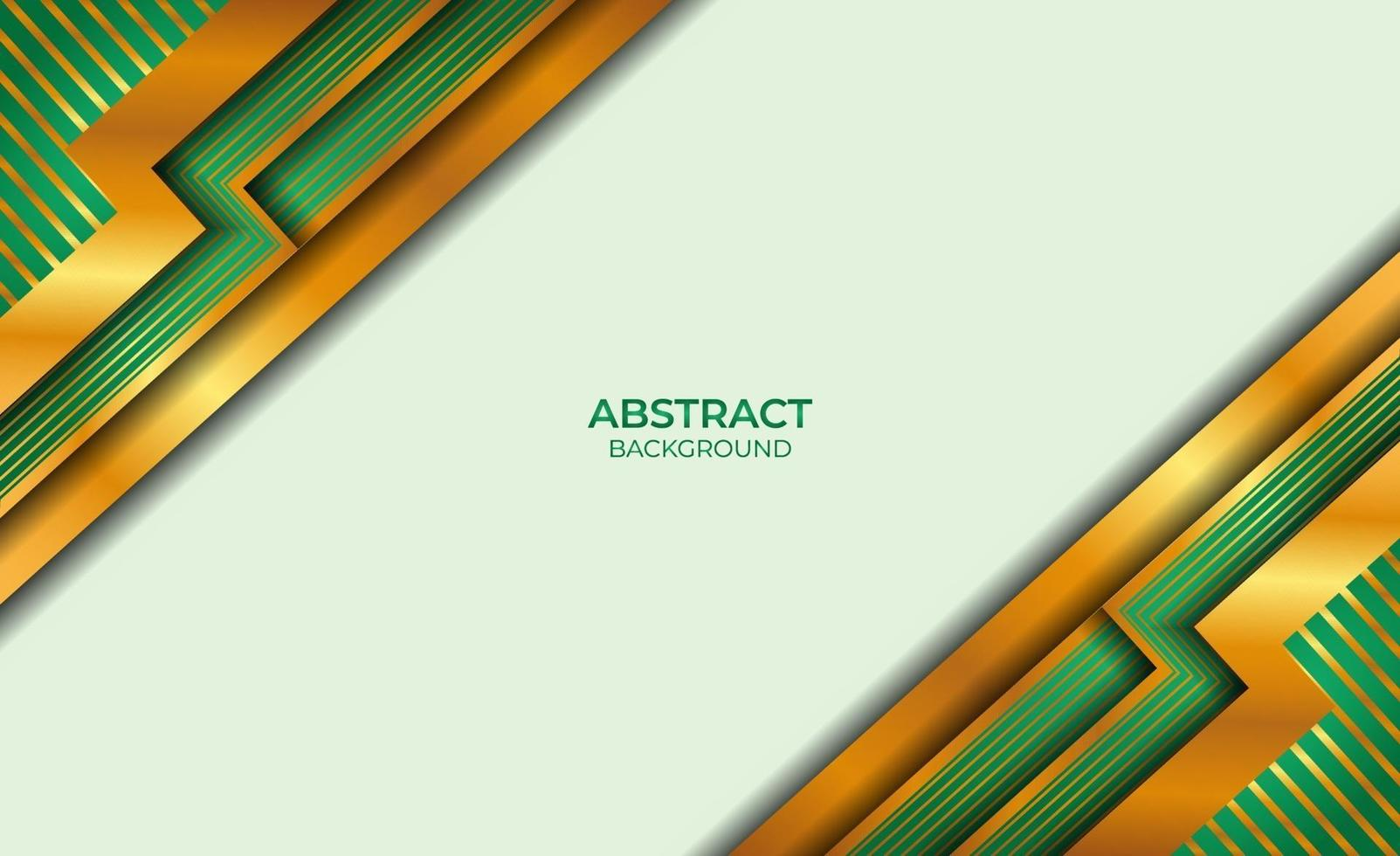 ontwerp gouden en groene stijl abstract vector