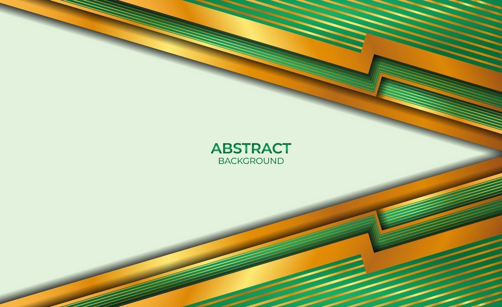 abstracte stijlachtergrond goud en groen vector