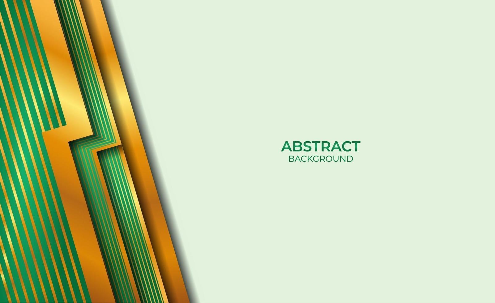 abstracte gouden en groene achtergrond vector