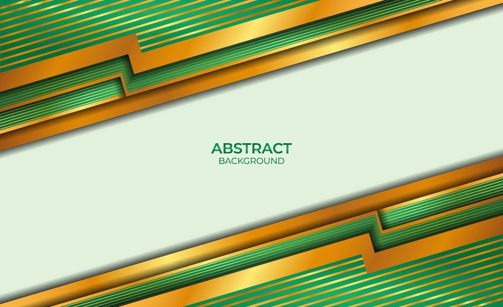 achtergrond abstracte stijl goud en groen vector