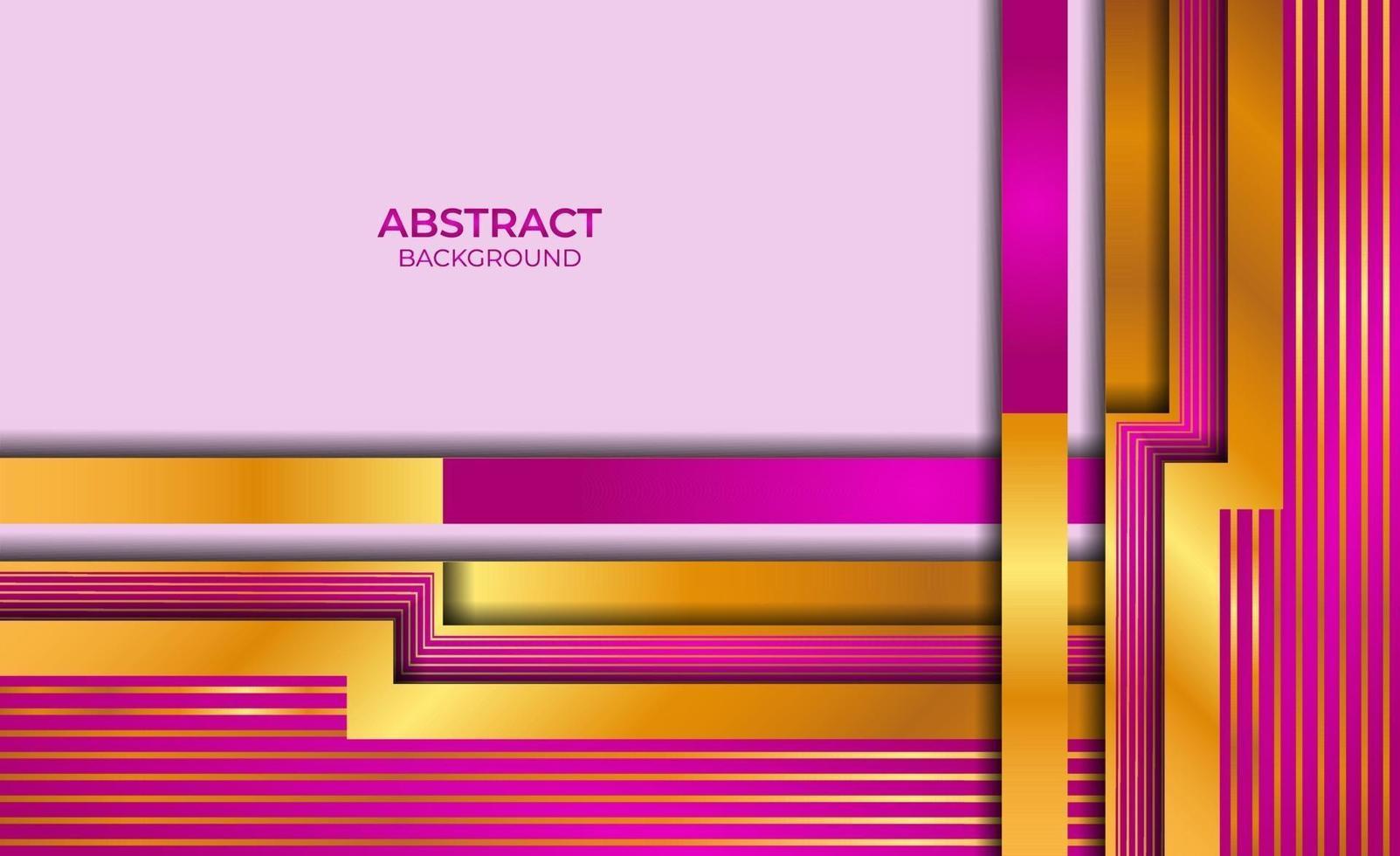 abstract ontwerp gouden en paarse stijl vector