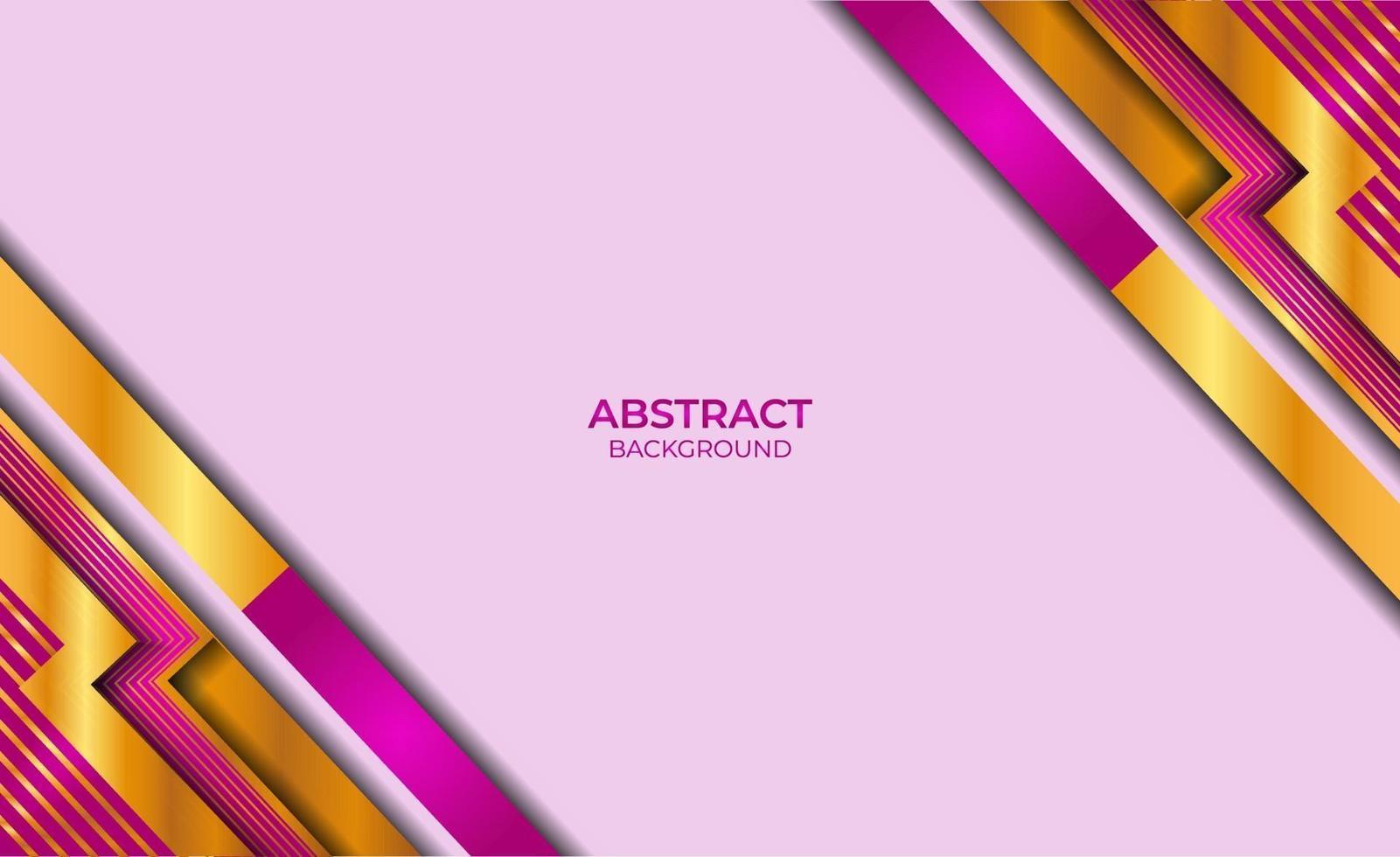 moderne abstracte gouden en paarse stijl vector