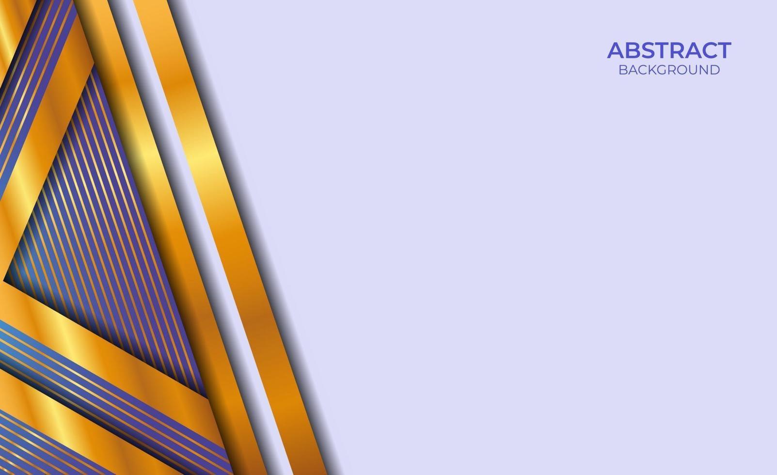 ontwerp abstracte stijl blauw en goud vector