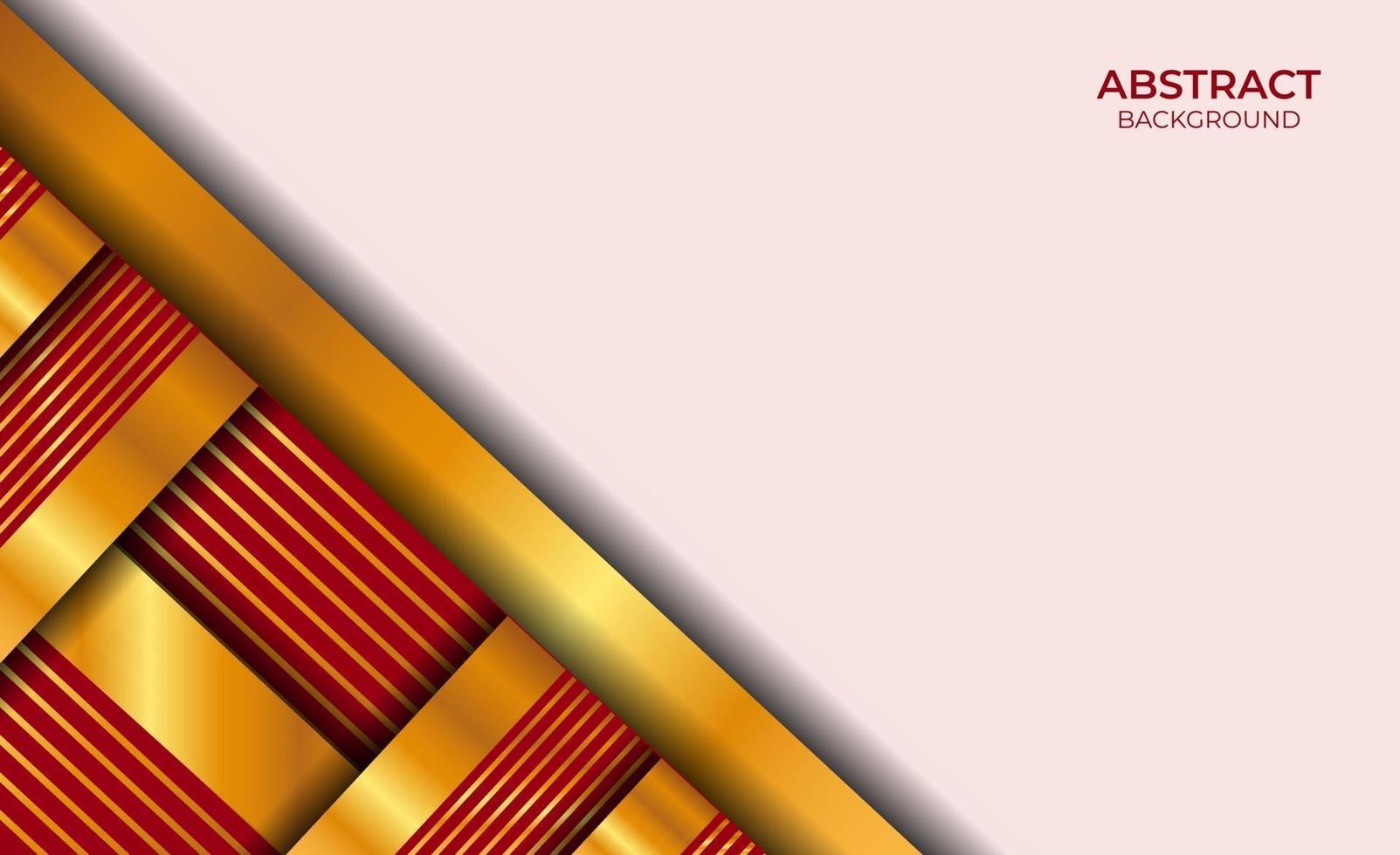 ontwerp abstracte luxe stijl rood en goud vector