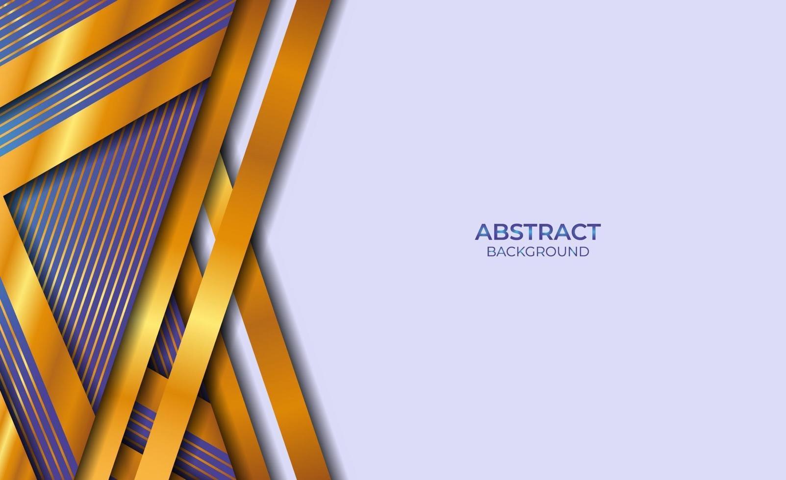 abstracte stijl blauwe en gouden achtergrond vector
