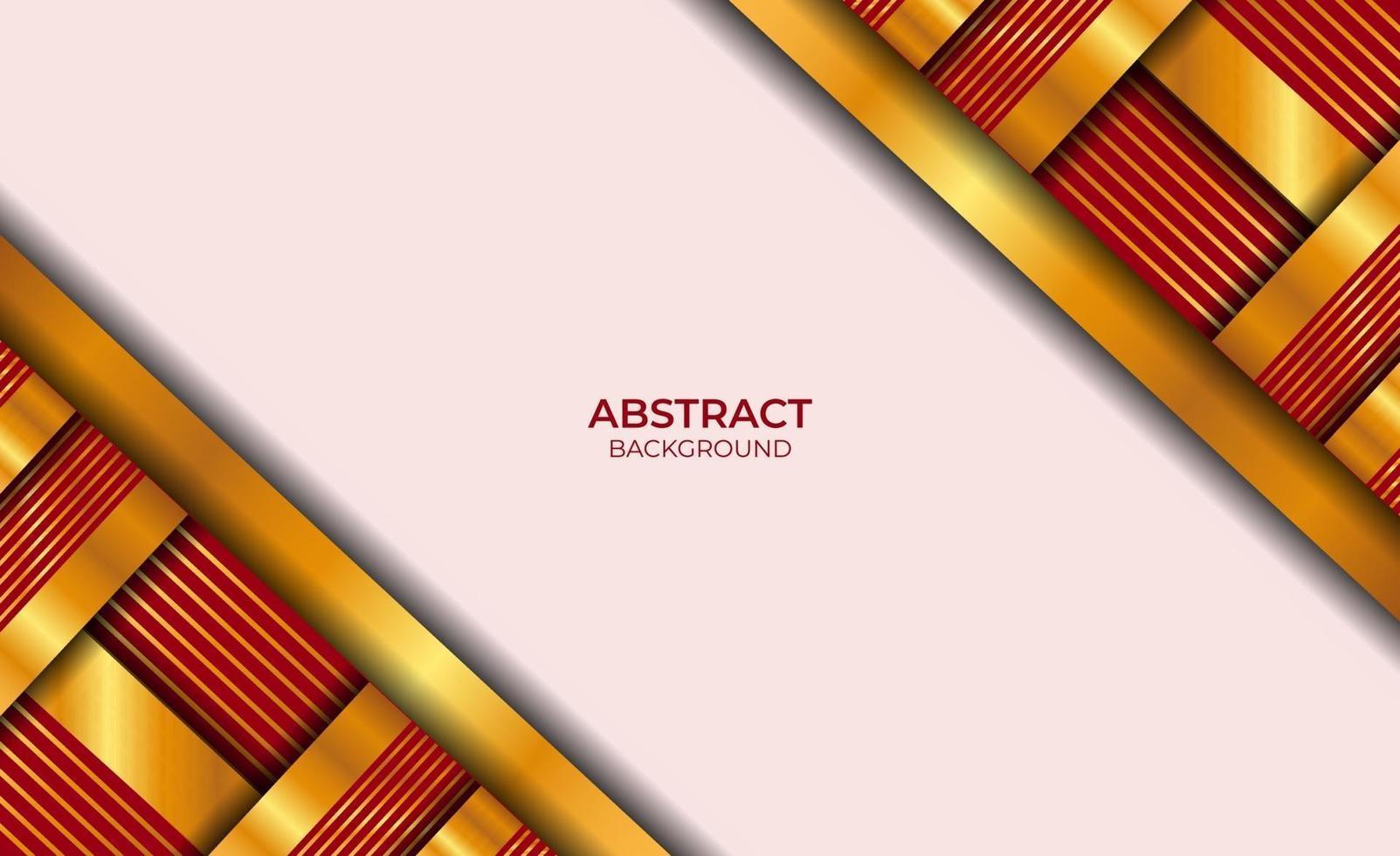 achtergrond luxe rood en goud vector