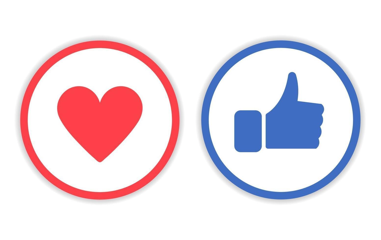 pictogram zoals en liefde met cirkellijn vector
