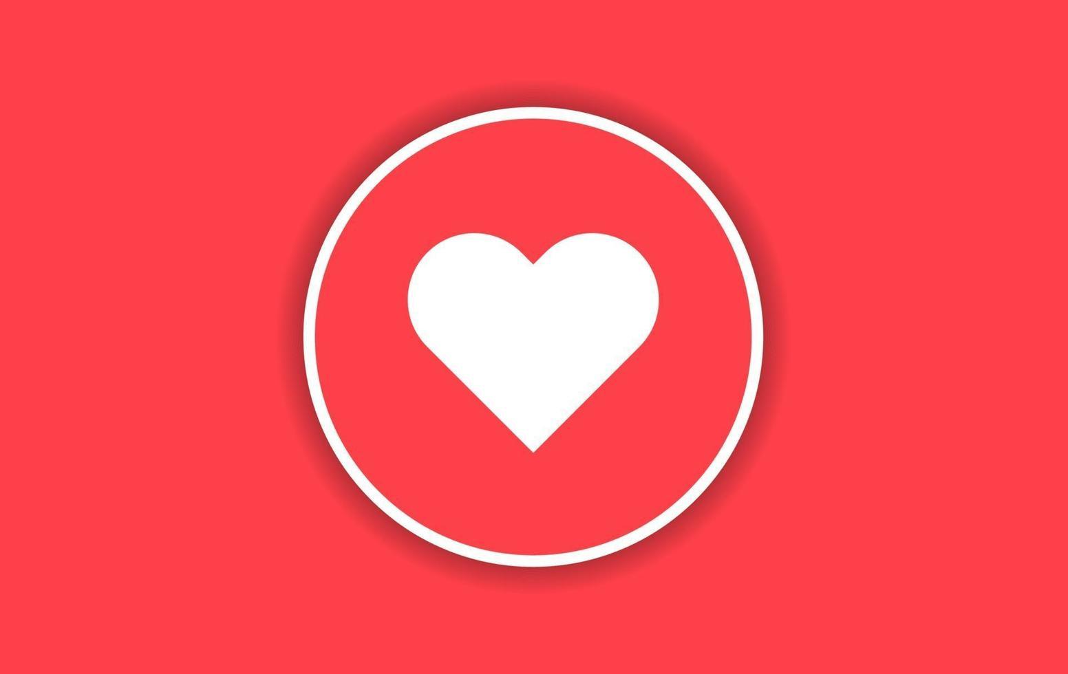 liefde pictogram ontwerp met rode achtergrond vector