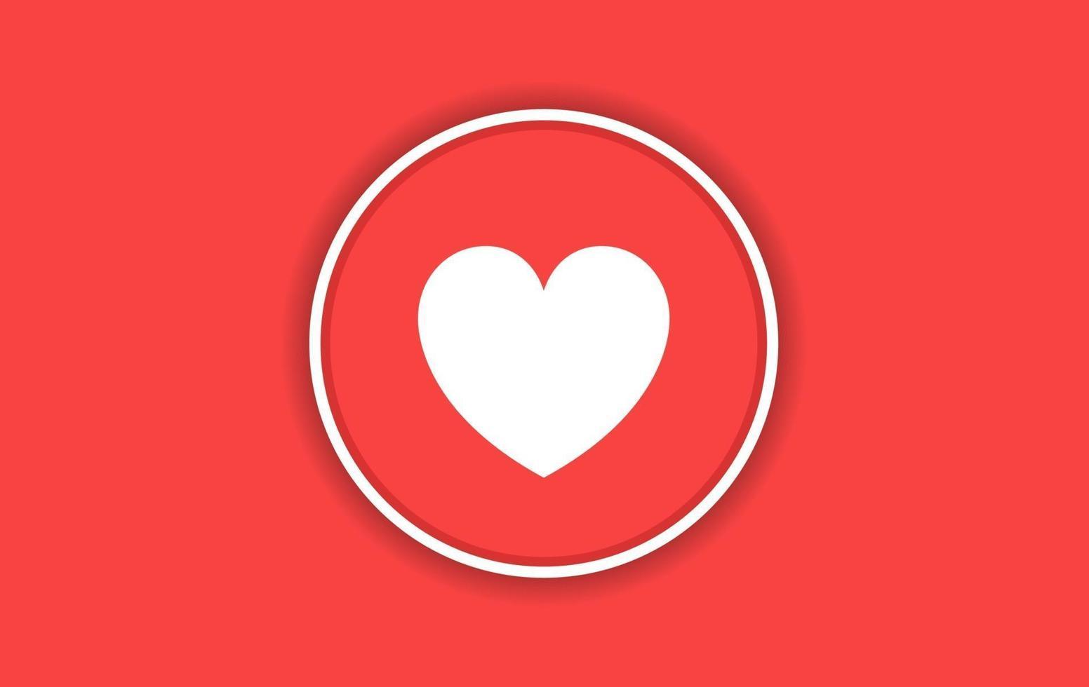 pictogram ontwerp liefde met rode vector