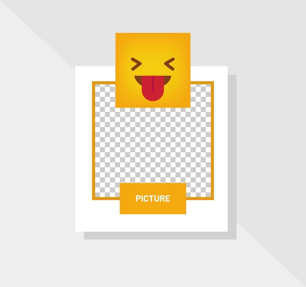emoticon pop reactie wenskaart vector
