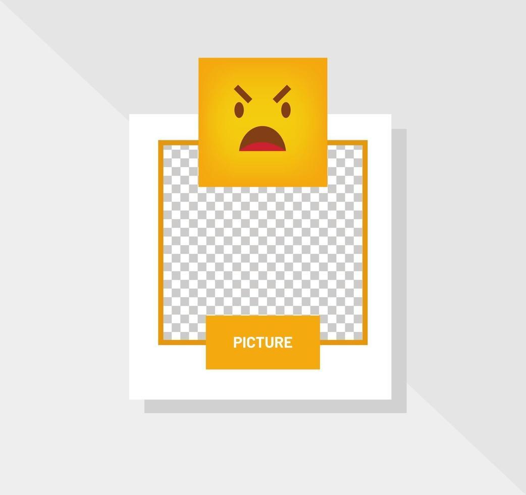 emoticon reactie boos wenskaart vector