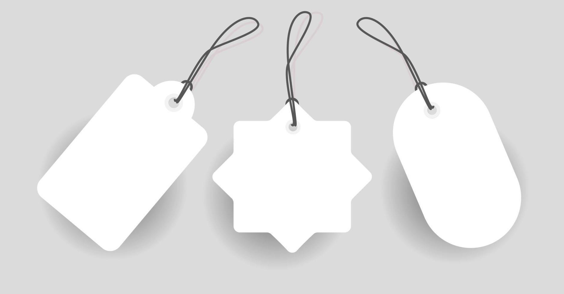 ontwerp leeg prijskaartje label rood met verschillende vorm vector