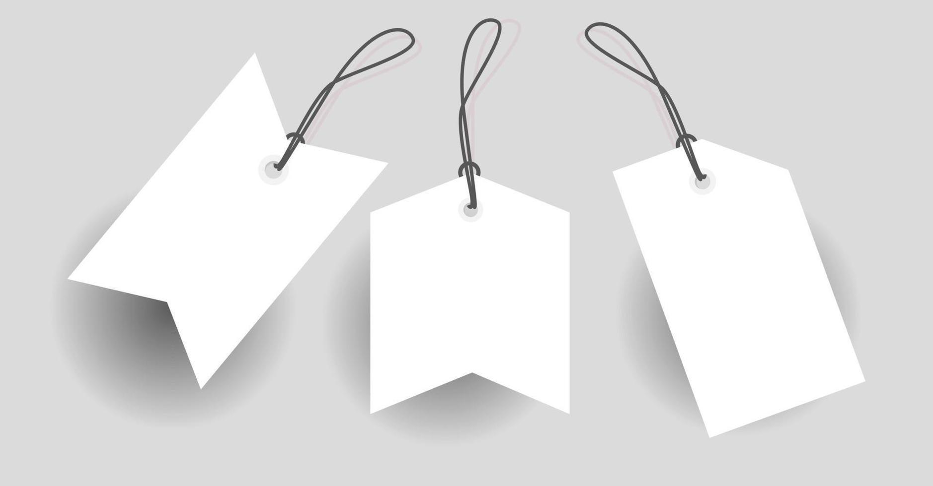 prijskaartje label korting rood met verschillende vorm - vector