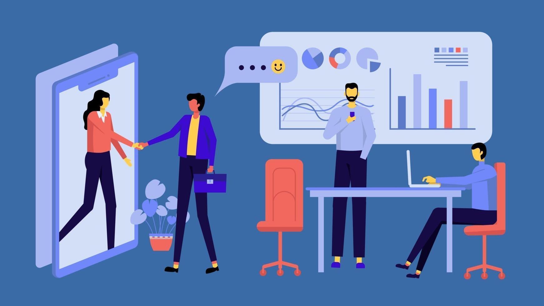 opstarten bedrijfsconcept voor marketing vector