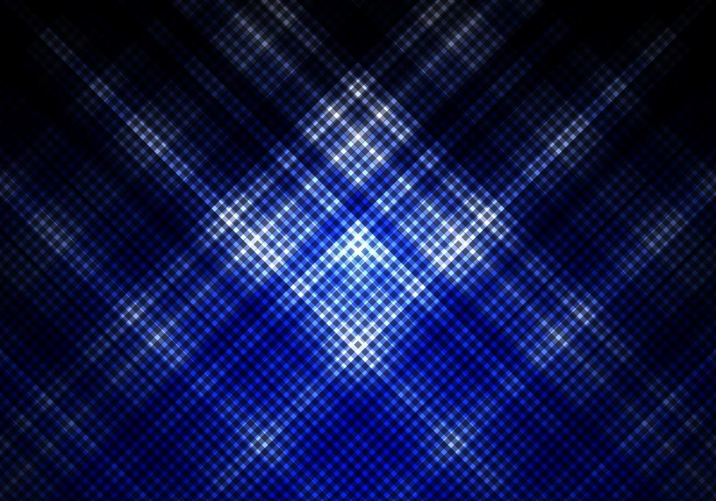 abstracte blauwe en zwarte kleur achtergrond met vierkante raster diagonale strepen vector