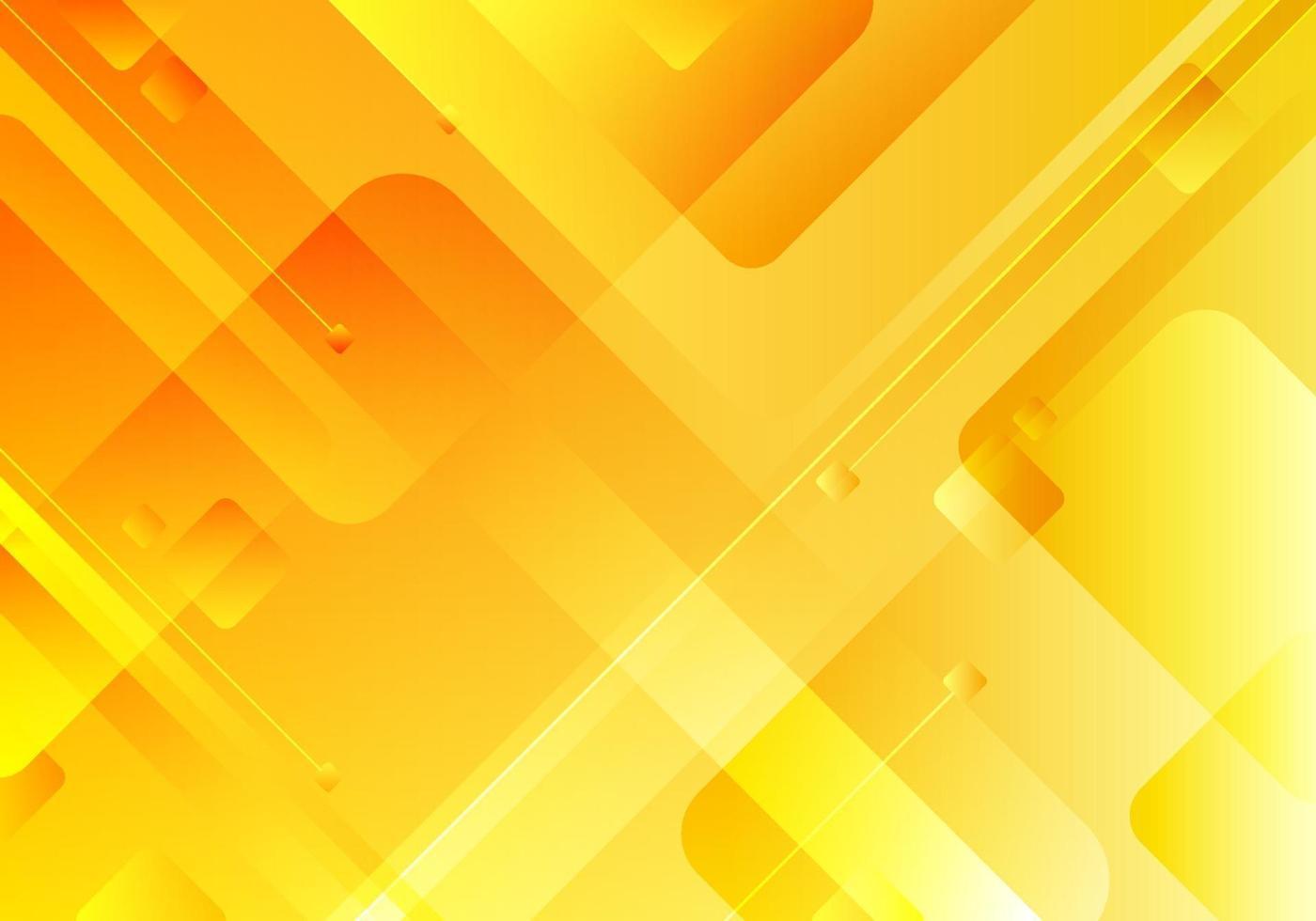 abstract technologieconcept gele geometrische vierkante overlappende huisstijlachtergrond vector