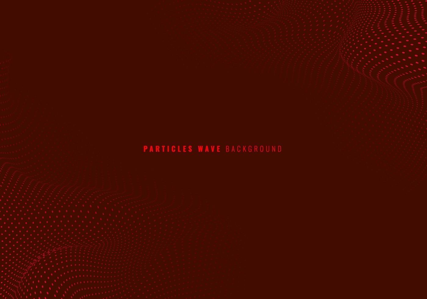 abstracte rode deeltjes stippen golf dynamische achtergrond. vector