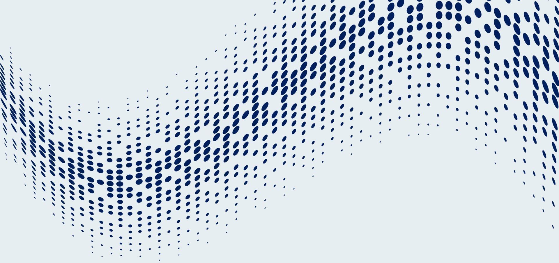 abstracte technologie futuristische stijl big data blauwe geometrische cirkelpatroon golf halftone op witte achtergrond en textuur vector
