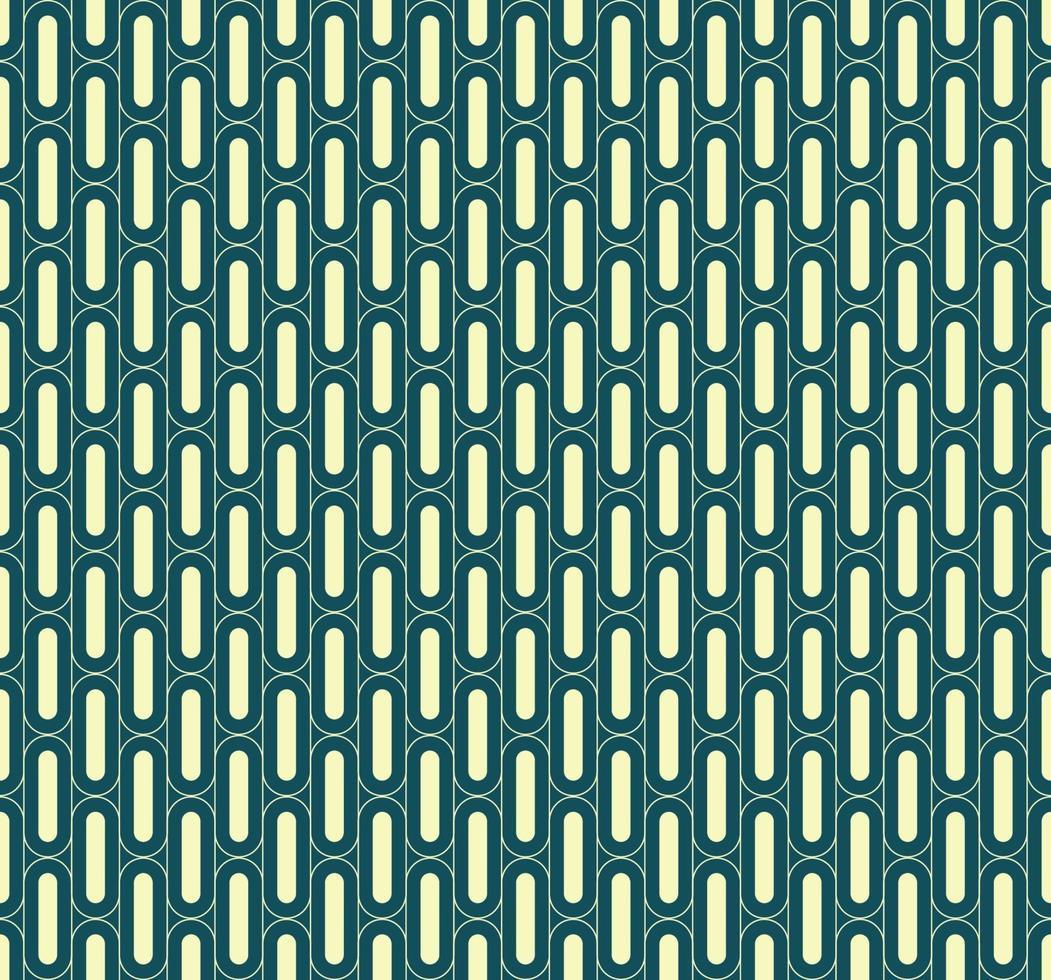 naadloze groene geometrische verticale afgeronde vet lijnpatroon vector