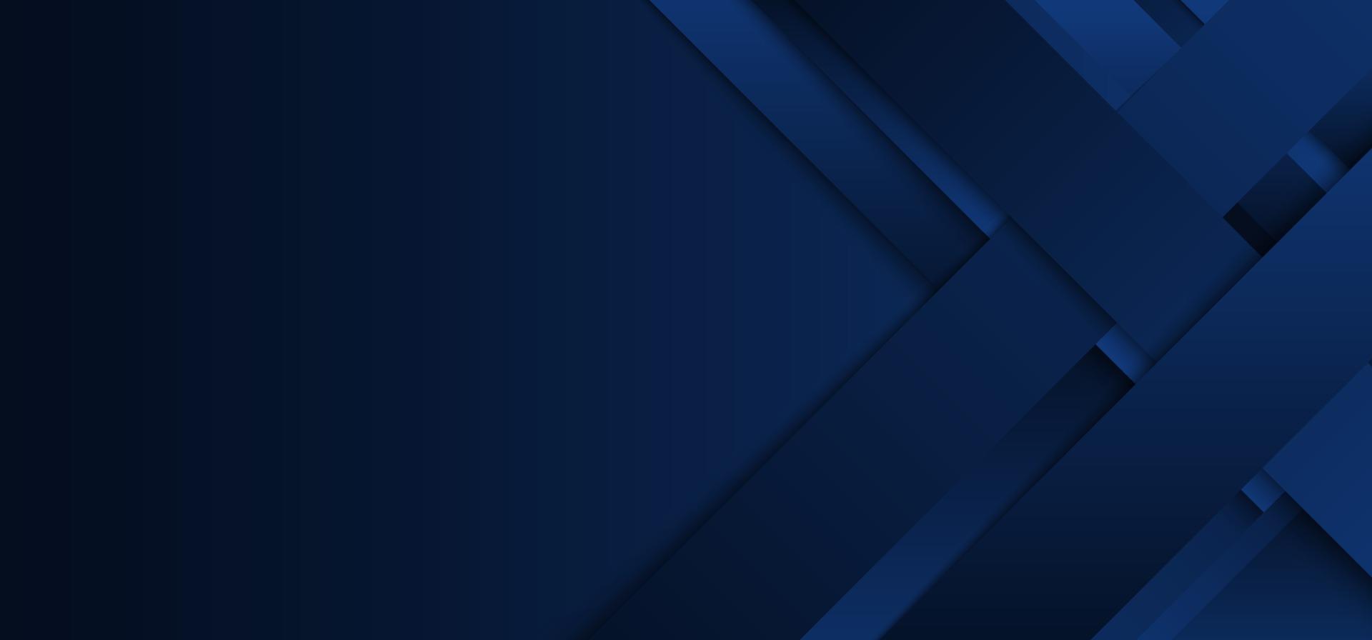 abstracte moderne blauwe strepen of rechthoeklaag die met schaduw op donkerblauwe achtergrond overlappen vector