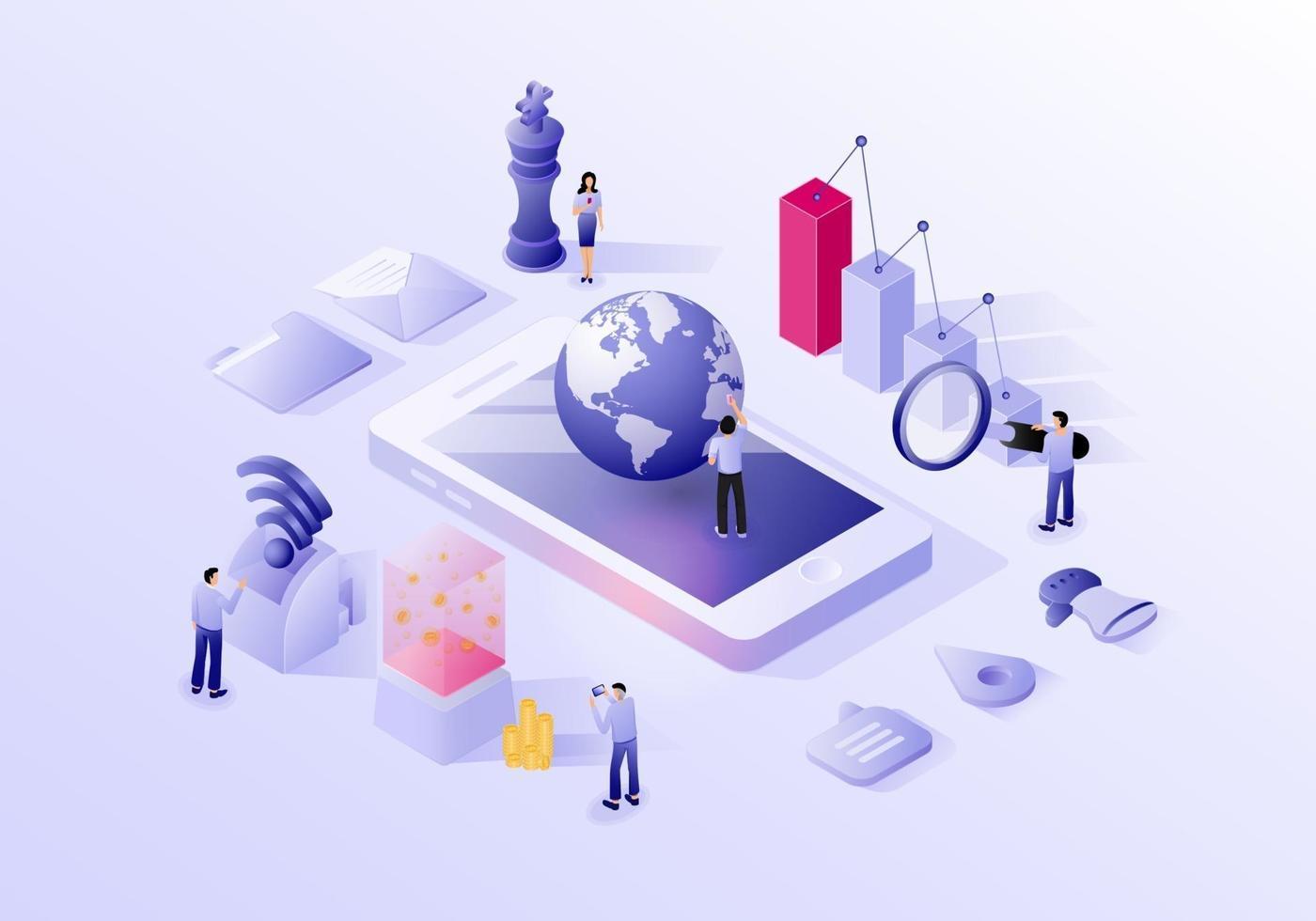 digitaal marketing conceptontwerp vector