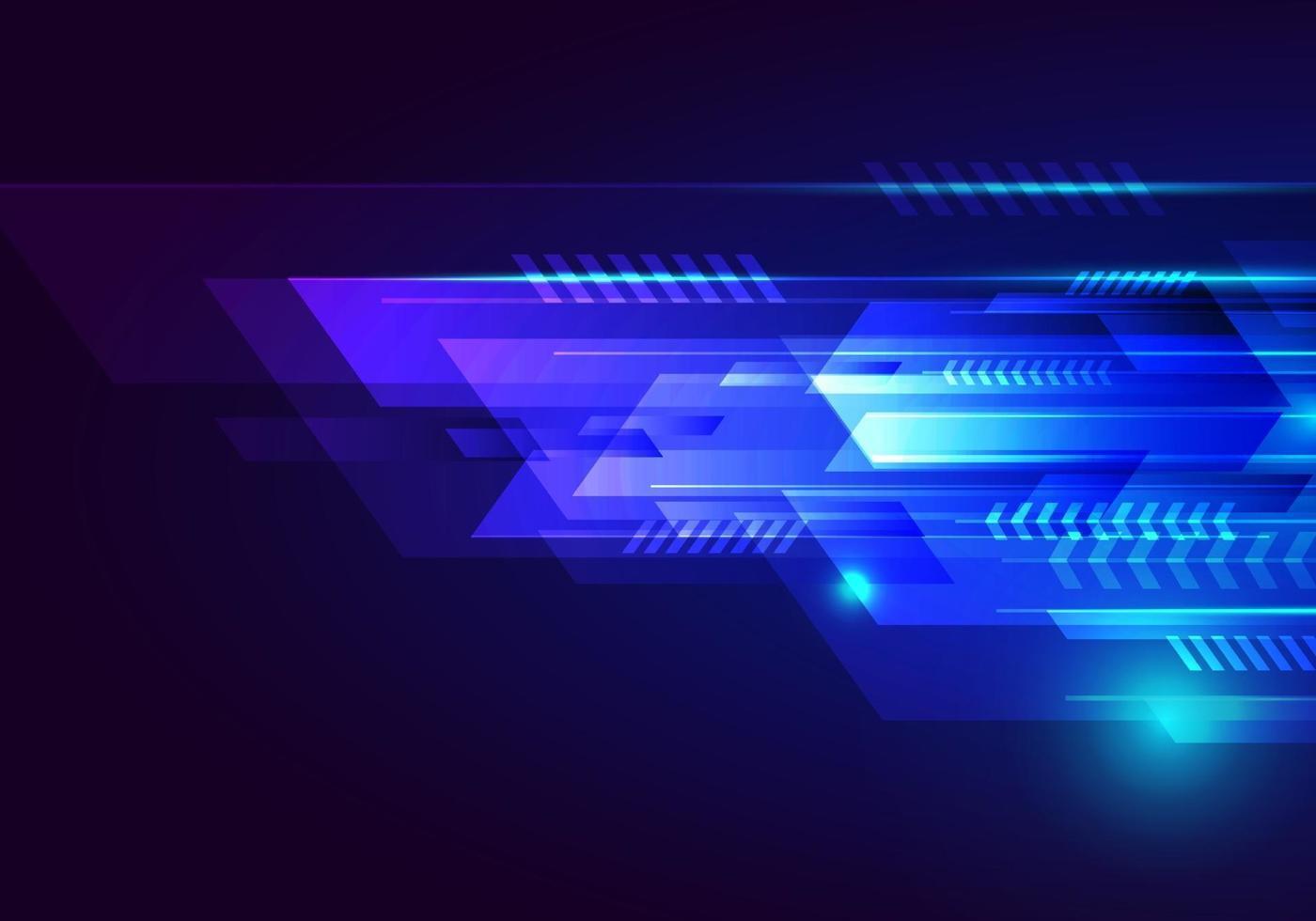 webabstract technologie futuristisch ontwerp blauwe geometrische streeplijnen overlappende lagen decoratie lichteffect op donkere achtergrond. vector