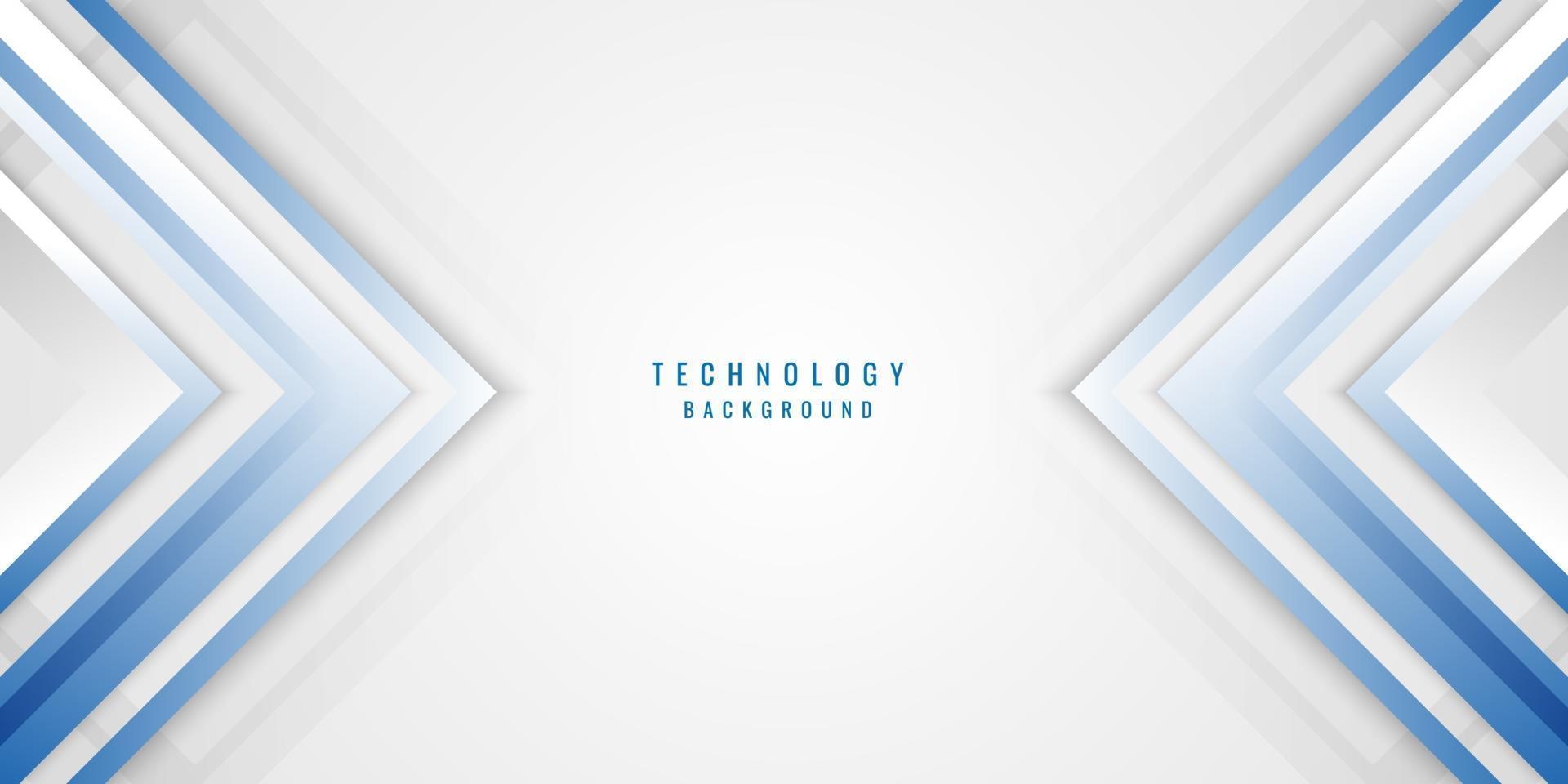 abstracte geometrische blauwe, witte en grijze pijl glans laag elementen ontwerp achtergrond. vector