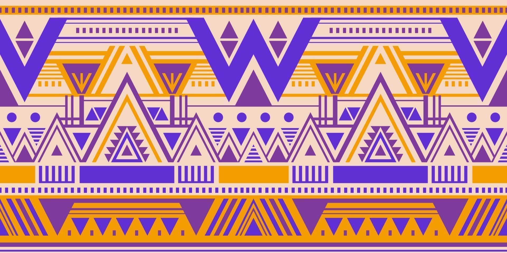 veelkleurig stammen vector naadloos patroon met krabbeldriehoeken. etnische achtergrond. Azteekse abstracte geometrische kunstdruk voor behang, doekontwerp, stof, omslag, textielsjabloon.