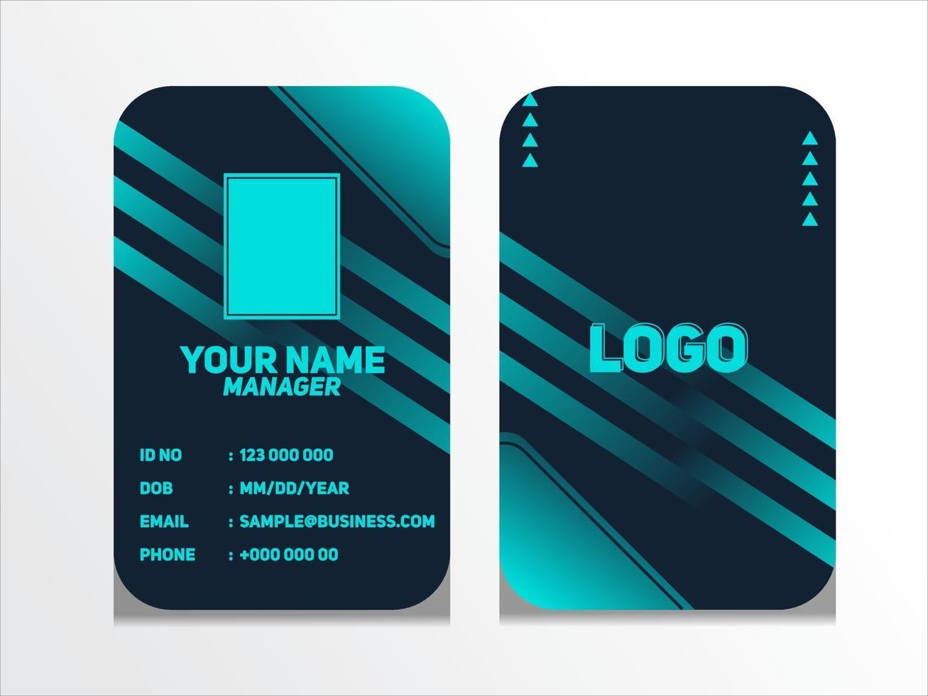 eenvoudige abstracte geometrische identiteitskaart ontwerp professionele identiteitskaart sjabloon vector voor werknemer en anderen