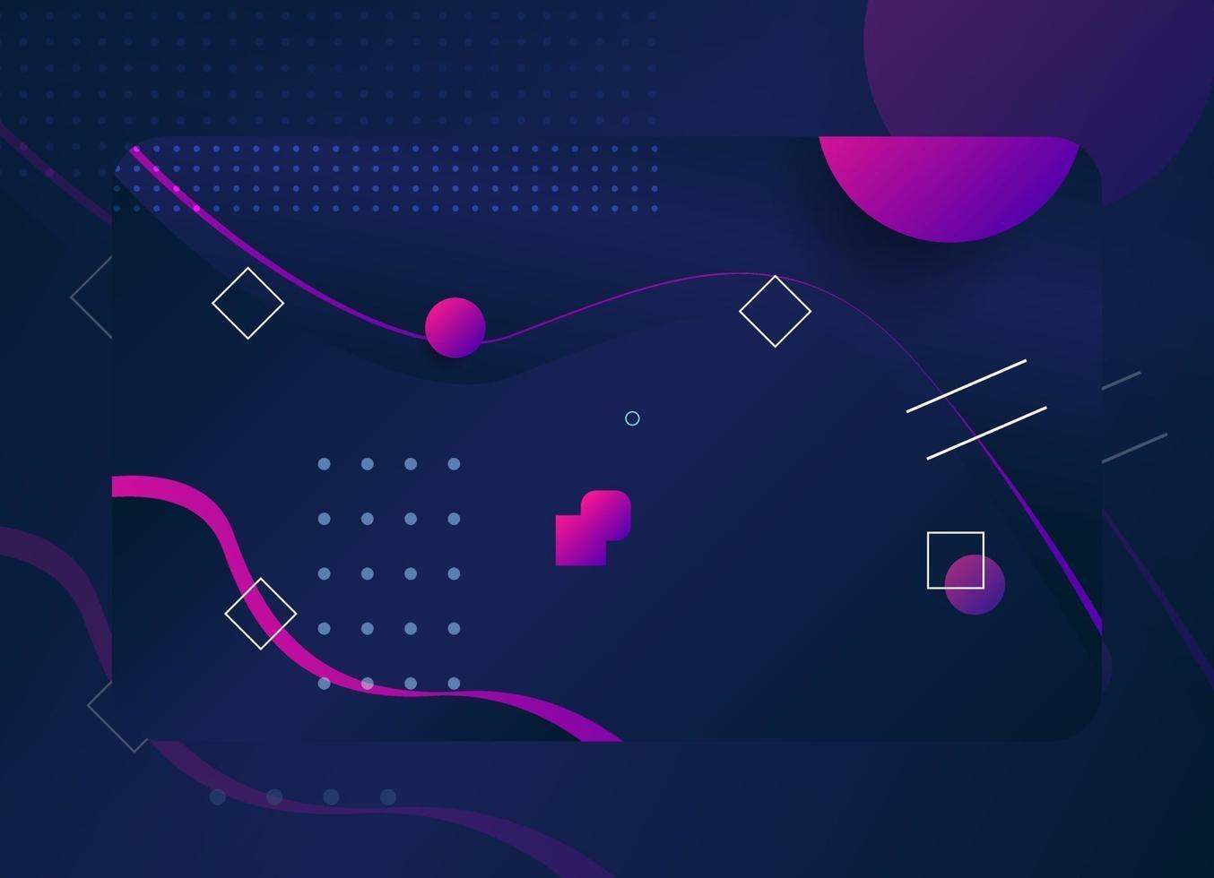 moderne geometrische visitekaartjesjabloon in donkerblauwe kleur vector