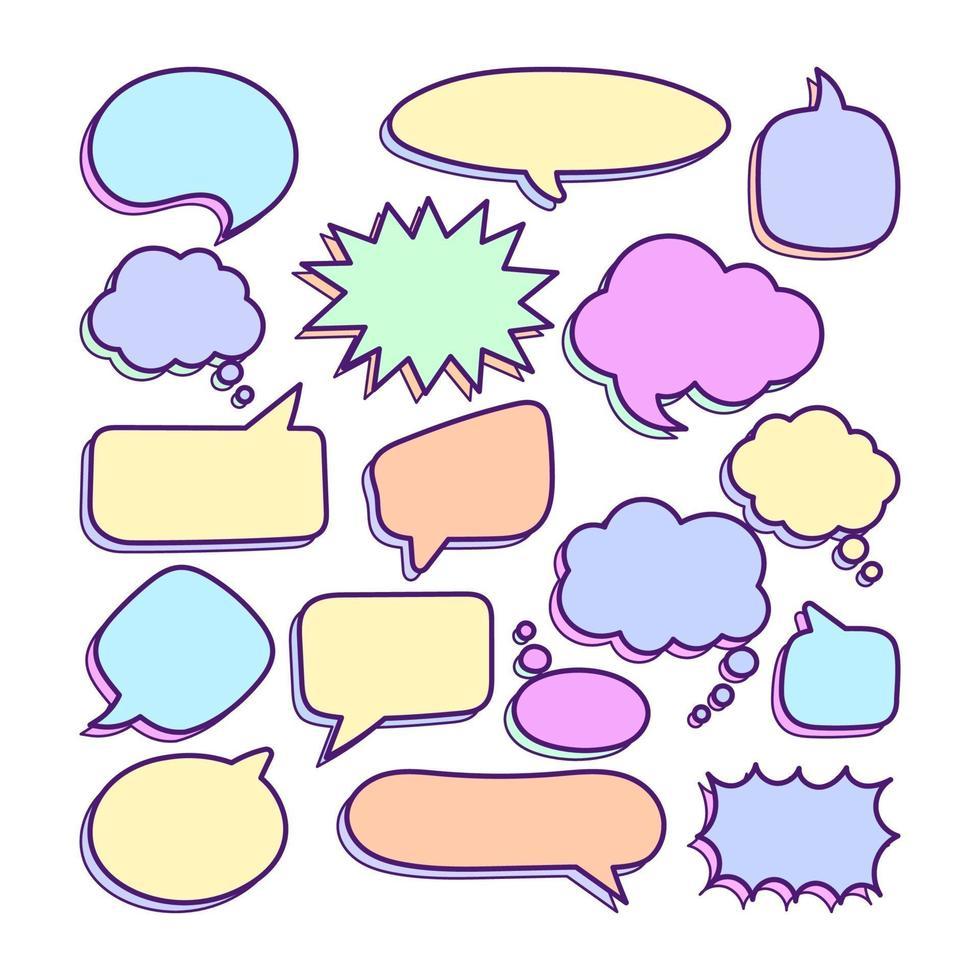 toespraak bubble vector set