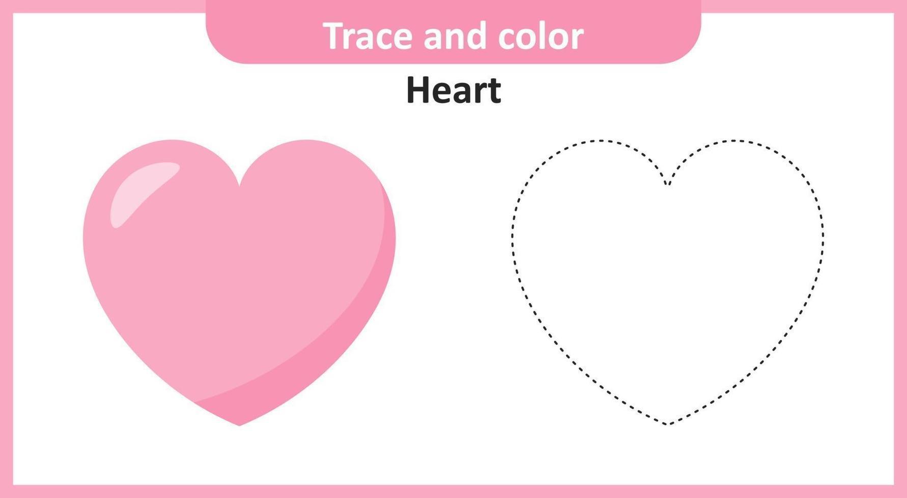hartspoor en kleur vector