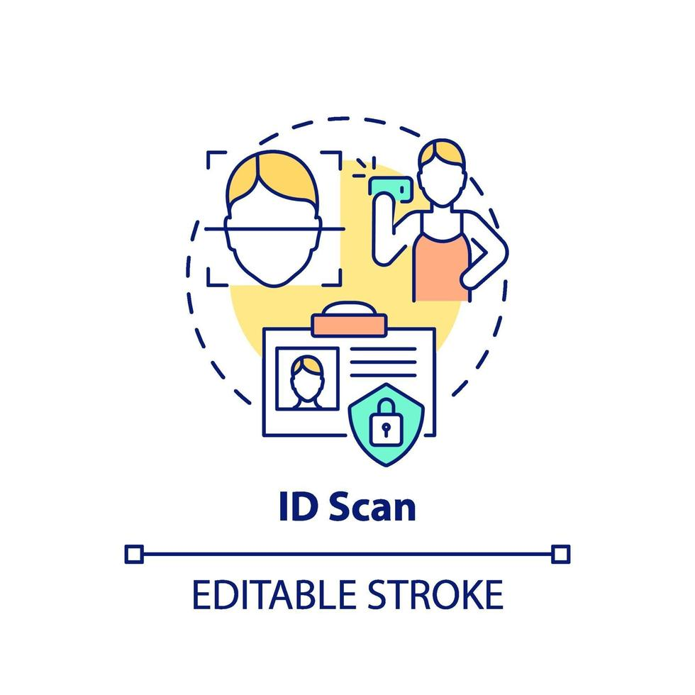 ID scan concept pictogram vector
