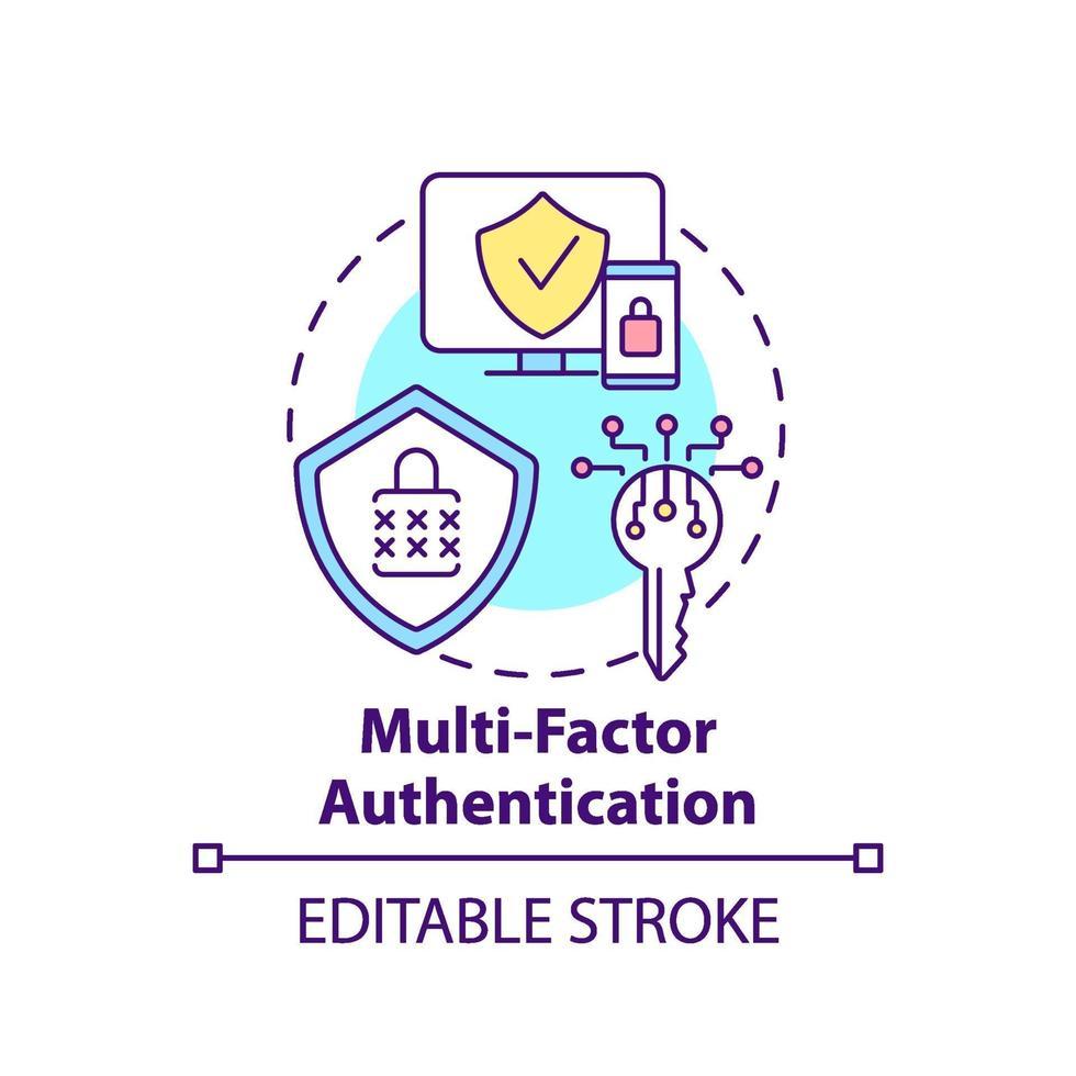 multi-factor authenticatie concept pictogram vector