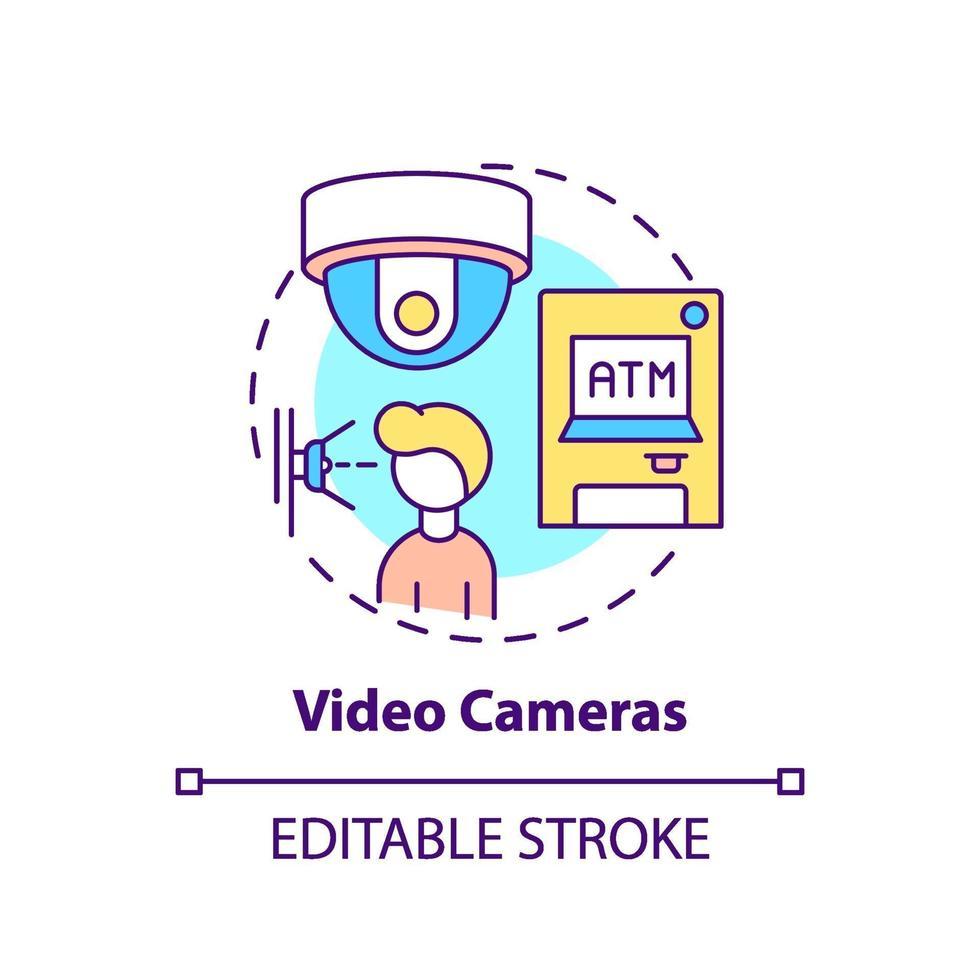 videocamera's concept pictogram vector