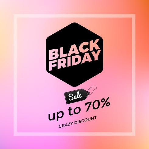 Black Friday in levendige kleuren vector