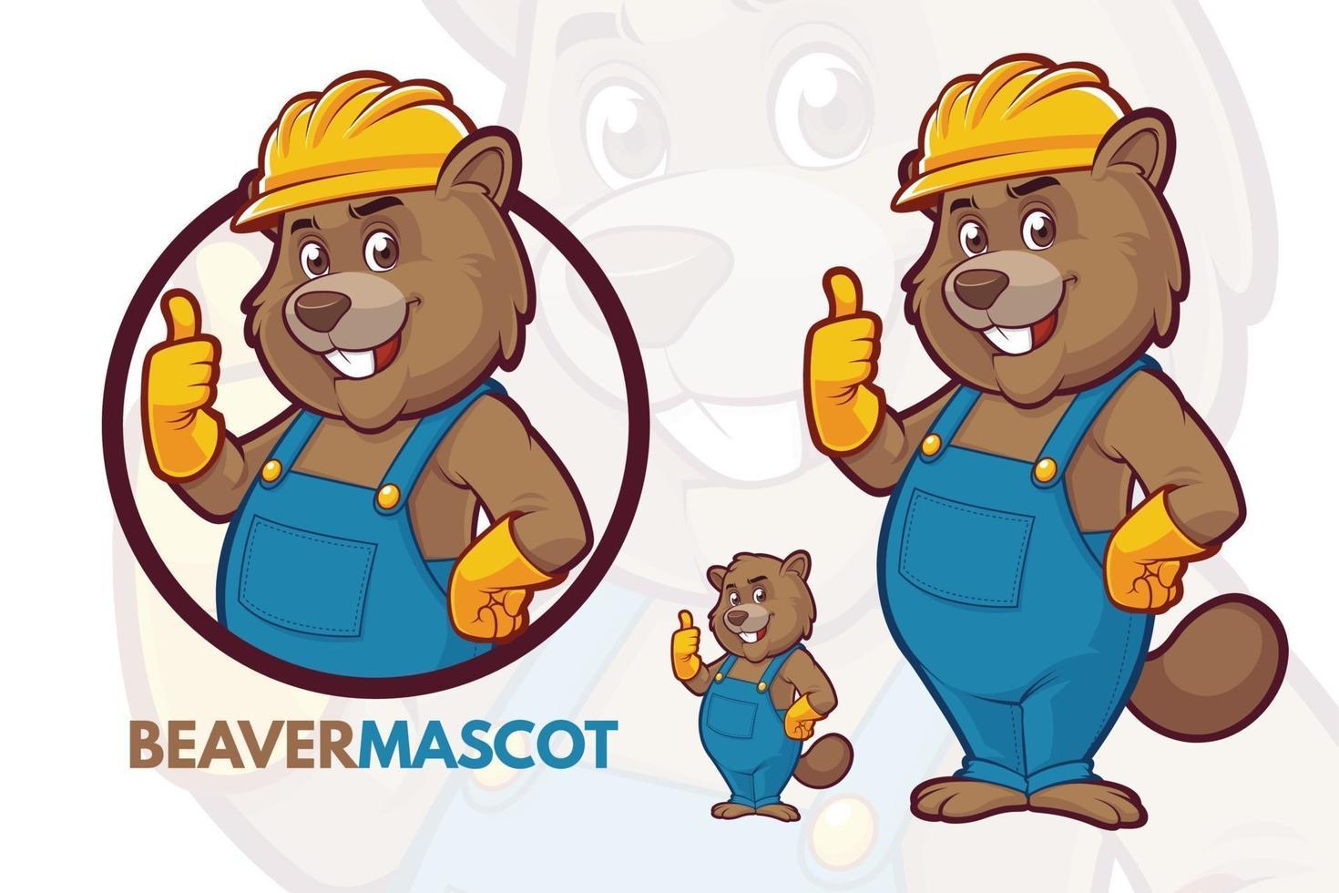 bever mascotte set vector