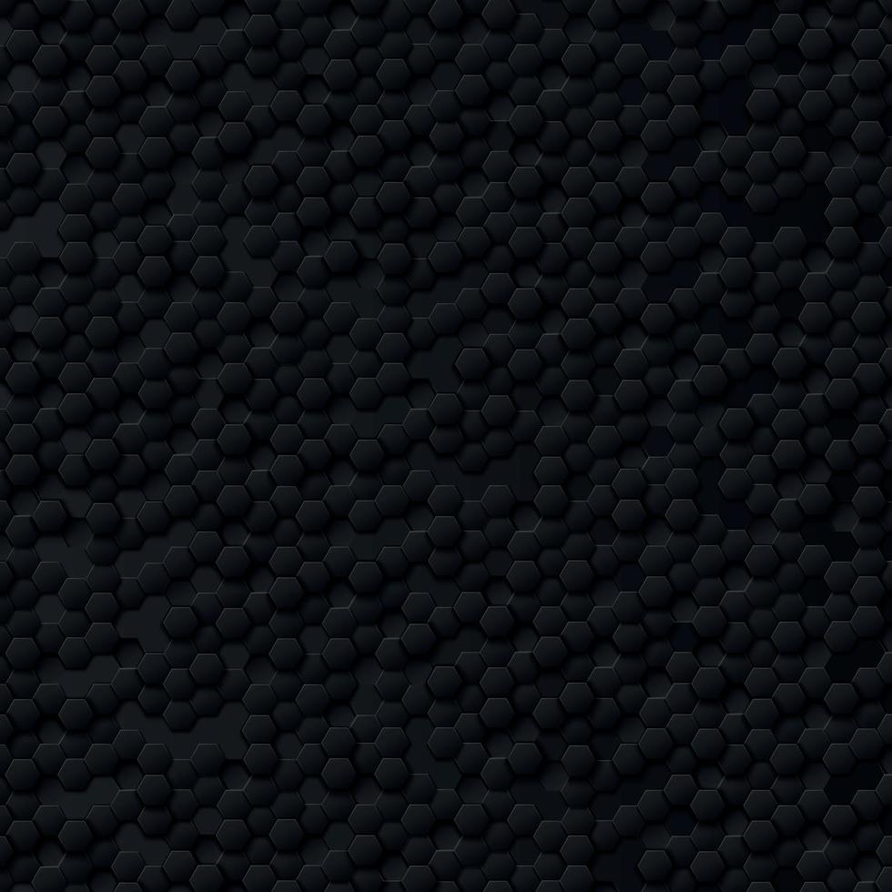 abstracte zeshoeken zwart op een zwarte en grijze achtergrond vector