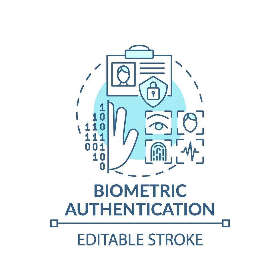 biometrische authenticatie concept pictogram vector
