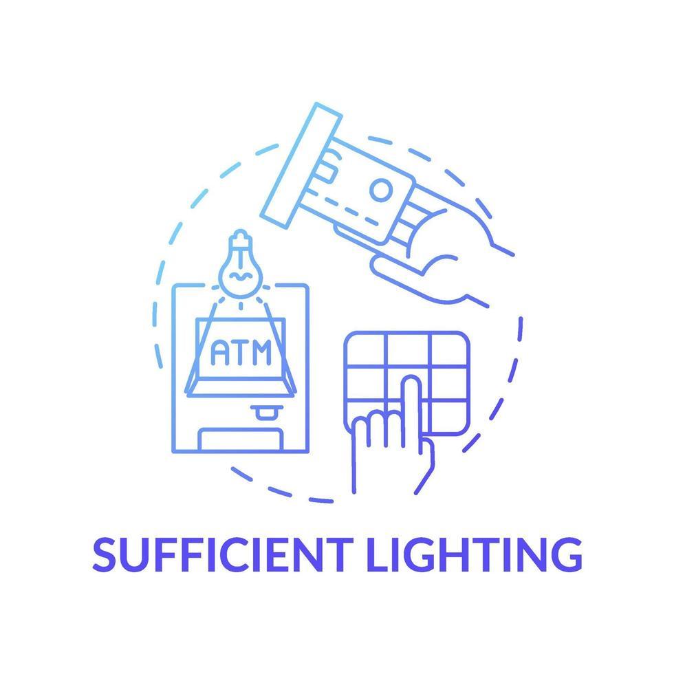 voldoende verlichtingsconcept icoon vector