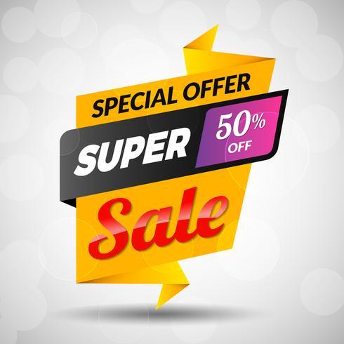 Super Sale-kortingsbanner vector