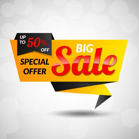 Grote Super Sale-sticker vector