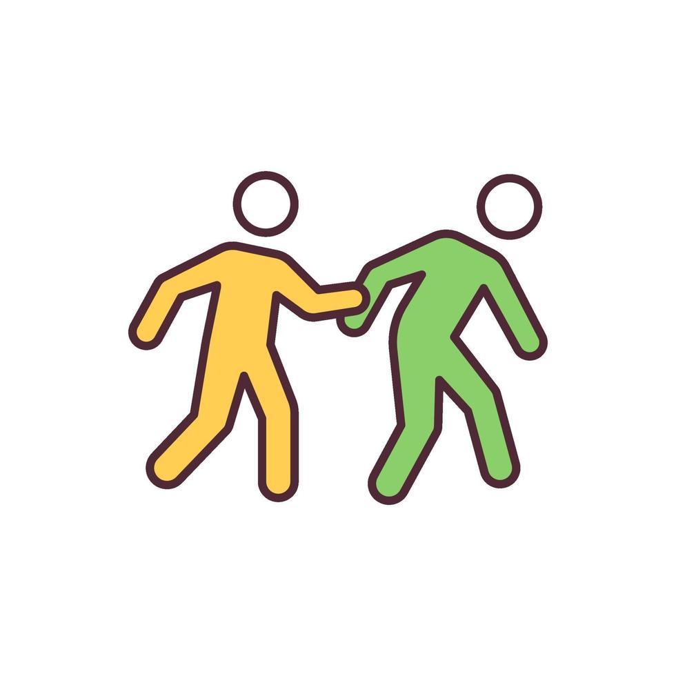 vluchtelingen RGB-kleur pictogram vector