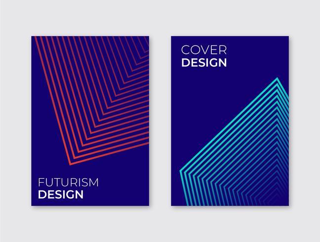Futurisme Cover Template vector