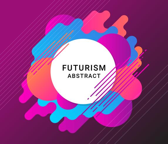 Futurisme Abstracte achtergrond vector